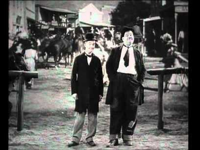 """Laurel and Hardy in """"Way Out West"""" 