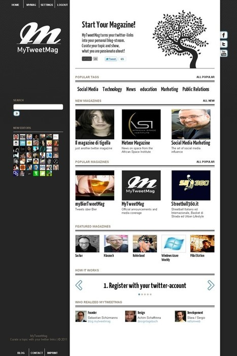 ":: Twitter Curation Tool ""MyTweetMag"" Restarts With A New Design :: 