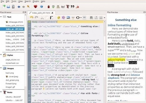 Nueva versión de Calibre añade editor y comparador de libros | iBooks liburu digitalak | Scoop.it