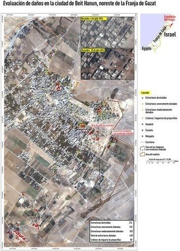 La ONU muestra las destrucciones causadas por Israel en Gaza a vista de satélite   Tecnologías de la Información   Scoop.it