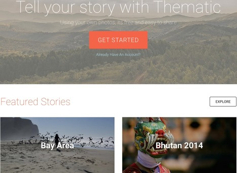Thematic - Create your own story scrolling album | Teaching Art in the Digital Era | Scoop.it