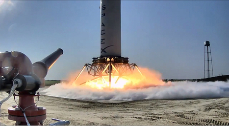 SpaceX Grasshopper breaks reusable rocket altitude record at 700 meters (with video) | ExtremeTech | leapmind | Scoop.it