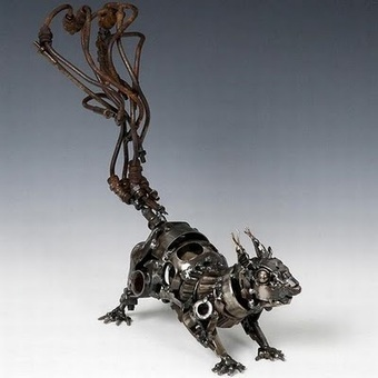 CoolPictureGallery: Awesome Sculptures Made out of Scrap Car Parts | Class 8 Recyclable Art | Scoop.it