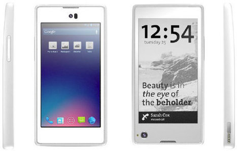 YotaPhone Dual Display (LCD + E-Ink) Smartphone Hands-on Video   CNXSoft – Embedded Software Development   Embedded Systems News   Scoop.it