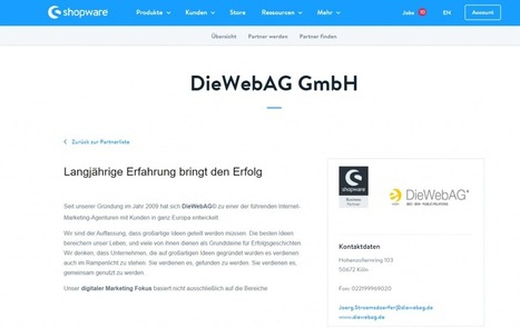 DieWebAG ist Shopware Business Partner | SEO Blog - DieWebAG | diesunddas | Scoop.it