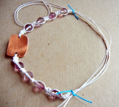 DIY Shamballa style macrame bracelet tutorial « Rings and Things | leather braiding | Scoop.it