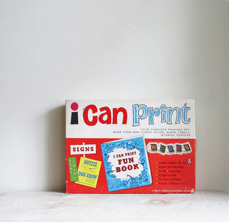 Vintage I Can Print Printing Set | 2014 | Scoop.it