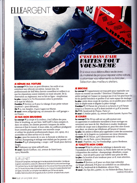 ELLE n°3500 du 25 janvier 2013 | Just Do It Yourself | Scoop.it