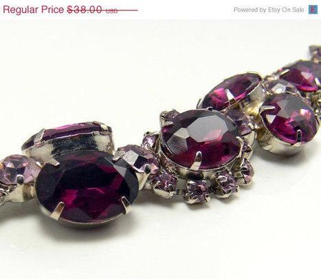 Vintage Amethyst Rhinestone Bracelet | Gorgeous Vintage I Crave! | Scoop.it
