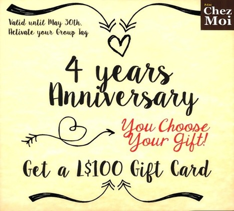 ChezMoi – GG Giftcard 100 Linden | 亗 Second Life Freebies Addiction & More 亗 | Scoop.it