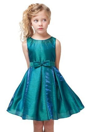 iGirlDess 2tone Mettalic Shantung Holiday Christmas Party Flower Girl Dress (6, Irland Blue) | Health and Beauty Care | Scoop.it
