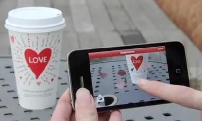Starbucks fête la Saint-Valentin en réalité augmentée   Réalité augmentée (augmented reality)   Scoop.it
