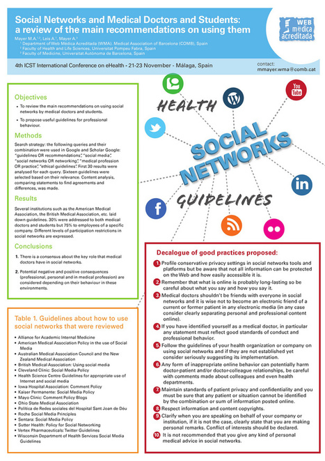 Social Networks, Medical Doctors and Students: a recommendations review | Doctor | Scoop.it