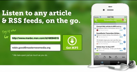 Listen To Any Article or RSS Feed On The Go with SoundGecko | Mobile Websites vs Mobile Apps | Scoop.it