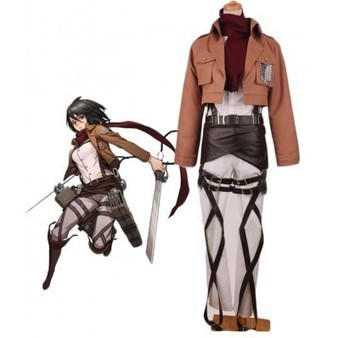 Attack on Titan Mikasa Ackerman Trainee Class Uniform Cosplay Costume | cosplay costumes | Scoop.it