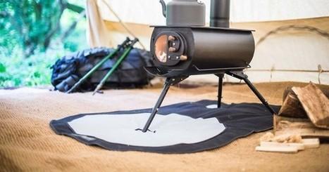 Portable woodstove folds down, heats up tents, yurts & tiny homes | Eureka | Scoop.it