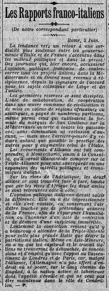 6 juin 1914 : une entente cordiale encore plus forte entre la France et l'Italie | Rhit Genealogie | Scoop.it