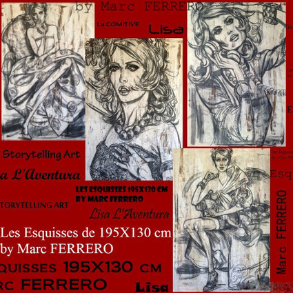 Les Esquisses de 195X130 cm by Marc Ferrero | Marc ferrero contemporary art | Scoop.it