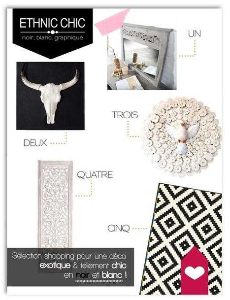 Idées déco pour une ambiance ethnique, chic et graphique en noir et blanc | DecoCrush blog déco, idées déco | décoration & déco | Scoop.it