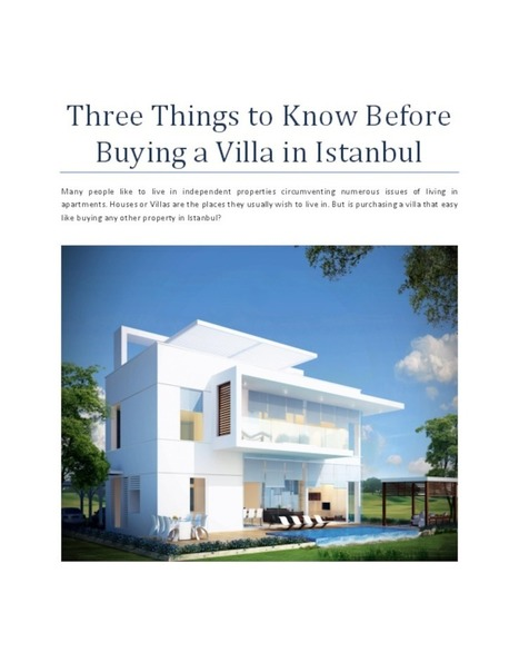 Three Things to Know Before Buying a Villa in Istanbul   Finance Land   Scoop.it