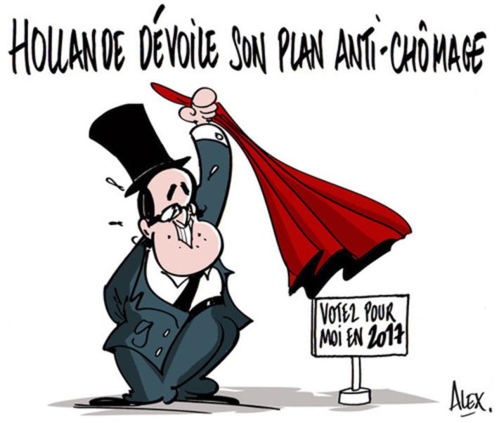Hollande dévoile son plan d'urgence anti-chômage | Baie d'humour | Scoop.it