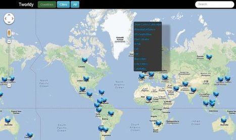 Tworldy, un mapa del mundo para conocer las tendencias de Twitter | RIATE | Scoop.it