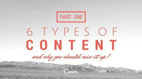 Six Types of Content and Why You Should Mix it Up! Part One | Work From Home | Scoop.it