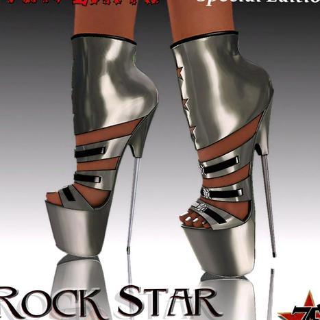 Metal Rock Star High Heels Group Gift   Second Life   Second Life Freebies   Scoop.it