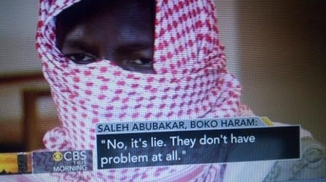 Boko Haram member grants TV interview; says girls are safe but there will be more kidnappings | NGOs in Human Rights, Peace and Development | Scoop.it