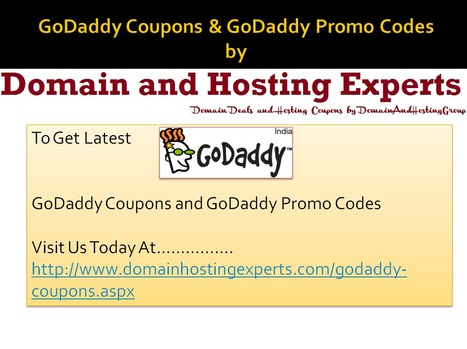 Exclusive GoDaddy Coupons and GoDaddy Promo Codes | Domain and Hosting Experts | Scoop.it