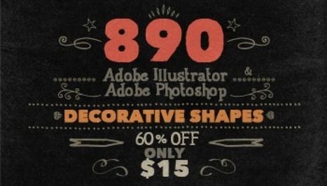 Bundle Deal | Handwritten Decorative design elements shapes | PIXNOV | Scoop.it