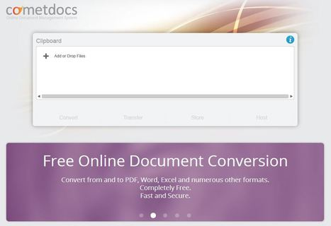 Free Online File Converter, Storage, Sharing, Transfer | Cometdocs | Pedalogica: educación y TIC | Scoop.it