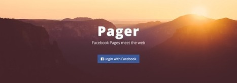 Pager Turns Your Facebook Pages Into Full-Fledged Websites | INTRODUCTION TO THE SOCIAL SCIENCES DIGITAL TEXTBOOK(PSYCHOLOGY-ECONOMICS-SOCIOLOGY):MIKE BUSARELLO | Scoop.it