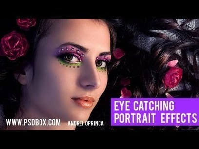 Video: Eye Catching Portraits in Photoshop   Graphic Design   Scoop.it