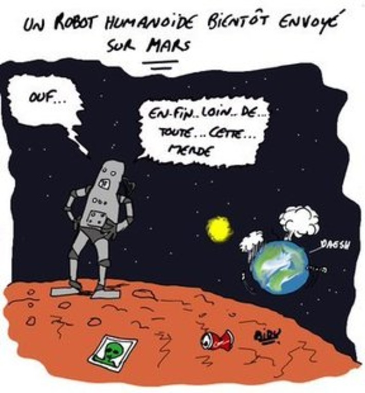 Bientôt un robot humanoïde sur Mars | Baie d'humour | Scoop.it