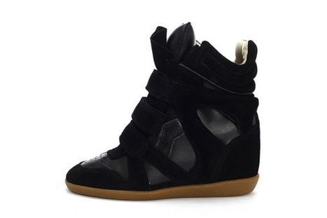 Women Isabel Marant Hidden Wedge Sneakers 17 All Black | Online Shopping | Scoop.it
