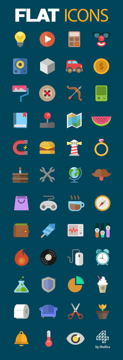 Colorful Flat Vector Icons | Web & Graphic Design - Inspirational resources and tips!!! | Scoop.it