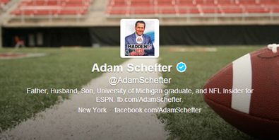 Apparently Adam Schefter is the social media king of New York | Awful Announcing | Social media and sports | Scoop.it
