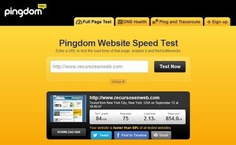 Pingdom Website Speed Test, para comprobar la velocidad de carga de tu sitio web   Las TIC y la Educación   Scoop.it