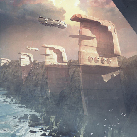 Stunning sci-fi concept sketches are actually 3D renders - Gizmodo | Machinimania | Scoop.it