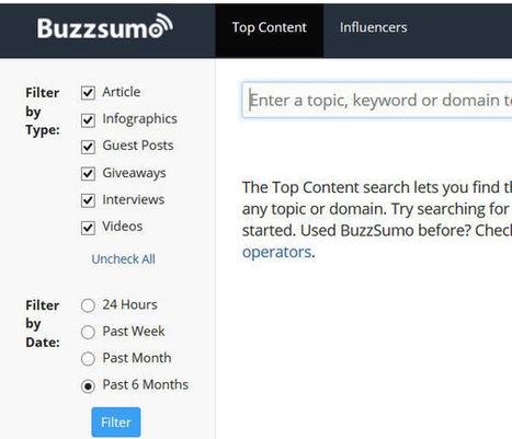 BuzzSumo identifie les contenus les plus partagés sur les réseaux sociaux. | Prodigemobile | Réseaux Sociaux | E-marketing | Scoop.it