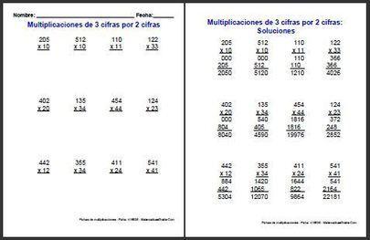 Fichas de multiplicaciones de Matemáticas Primaria | Matemáticas Primaria | Scoop.it