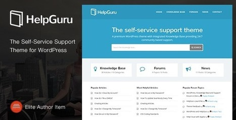 HelpGuru - A Self-Service Knowledge Base Theme - Download New Themes | Sports & Entertainment | Scoop.it