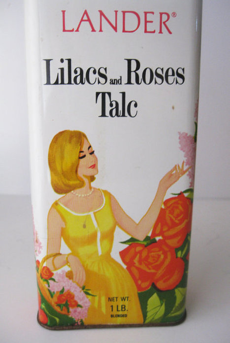Vintage Lilacs and Roses Talc Tin by SwankyLadyVintage on Etsy | Herstory | Scoop.it