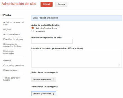 Blog de Antonio Omatos » Crear plantillas en Google Sites | EDUDIARI 2.0 DE jluisbloc | Scoop.it