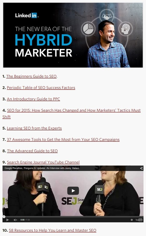 Becoming a Hybrid Marketer: 10 Resources for Acquiring SEO Smarts - LinkedIn | 123MULTIMEDIA | Scoop.it