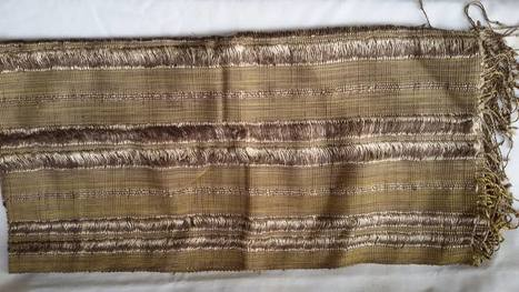 Golden Silk Shawl Scarf, ethically handwoven by disadvantaged women weavers in the community. | Natural Dyes Cotton Scarfs | Scoop.it