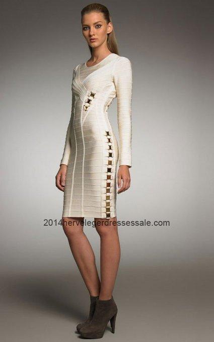 2014 White Gold Hardware Long Sleeve Herve Leger Dresses Sale [White Gold HL Long-Sleeve Dresses] - $170.00 : 2014 Herve Leger   Cheap Herve Leger   BCBG & Herve Leger   Scoop.it