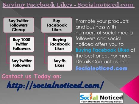 Buying Facebook Likes - Socialnoticed.co | Buying facebook likes | Scoop.it
