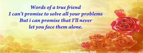 Facebook Cover Image - True friend Says - TheQuotes.Net | Facebook Cover Photos | Scoop.it
